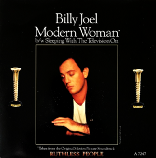 "Billy Joel ‎- Modern Woman (7"") (EX/VG)"